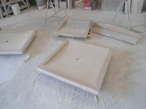 platos de duha de mármol
