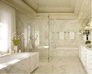 mármol en baños 3