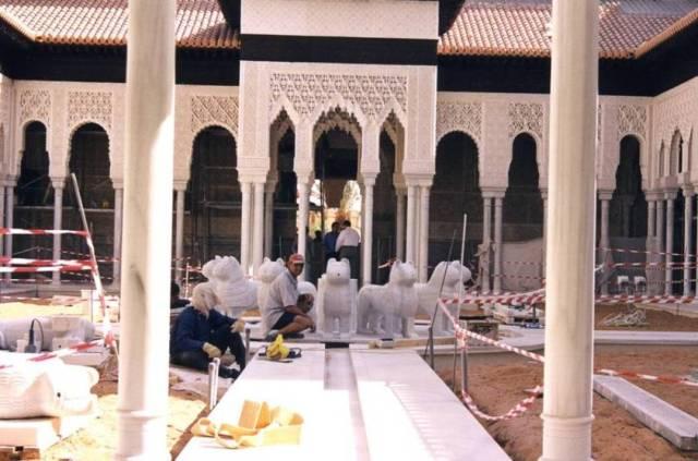 réplica Alhambra en mármol