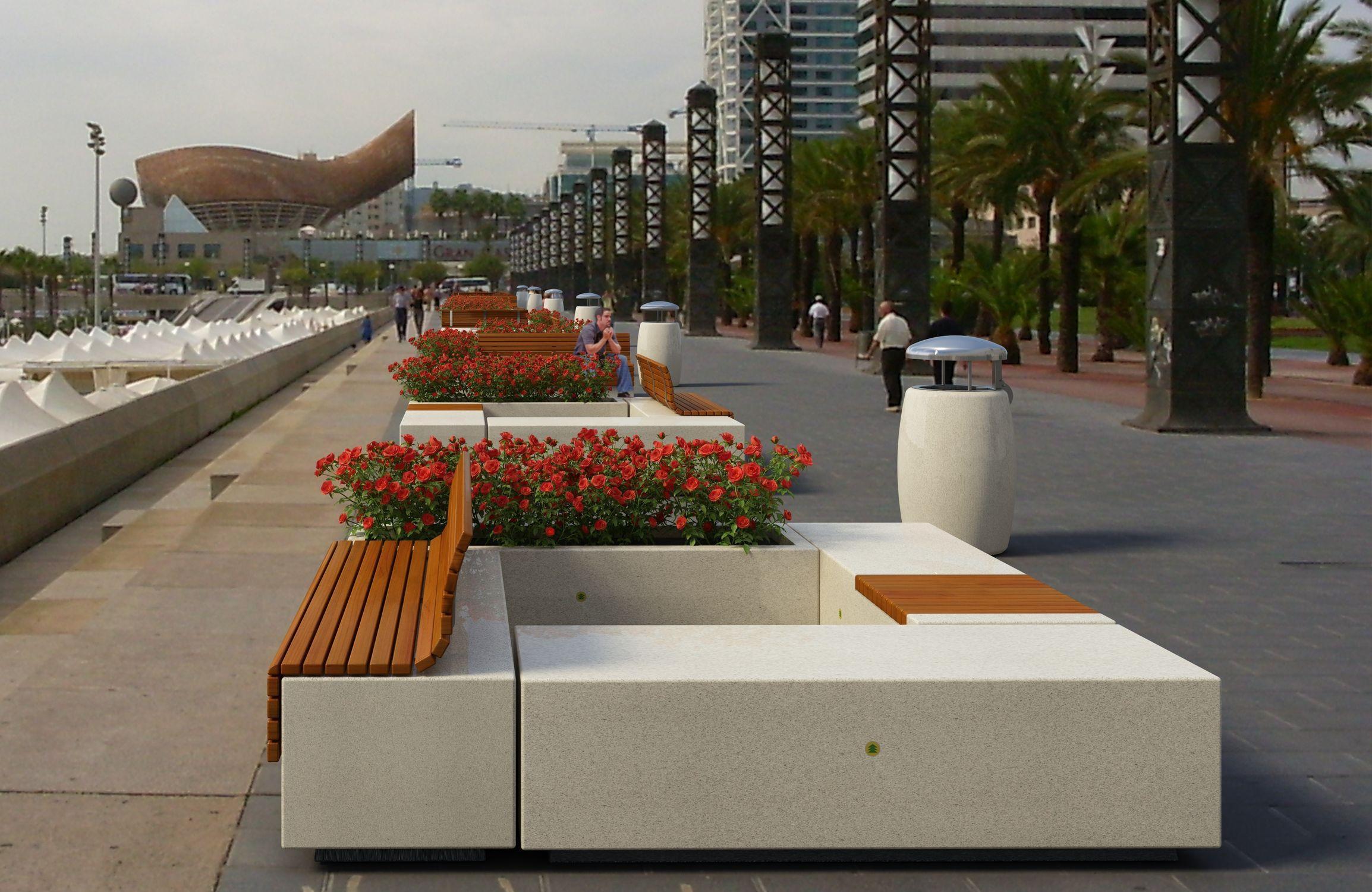 El m rmol decorativo y mobiliario urbano todo sobre m rmol for Ejemplos de mobiliario urbano