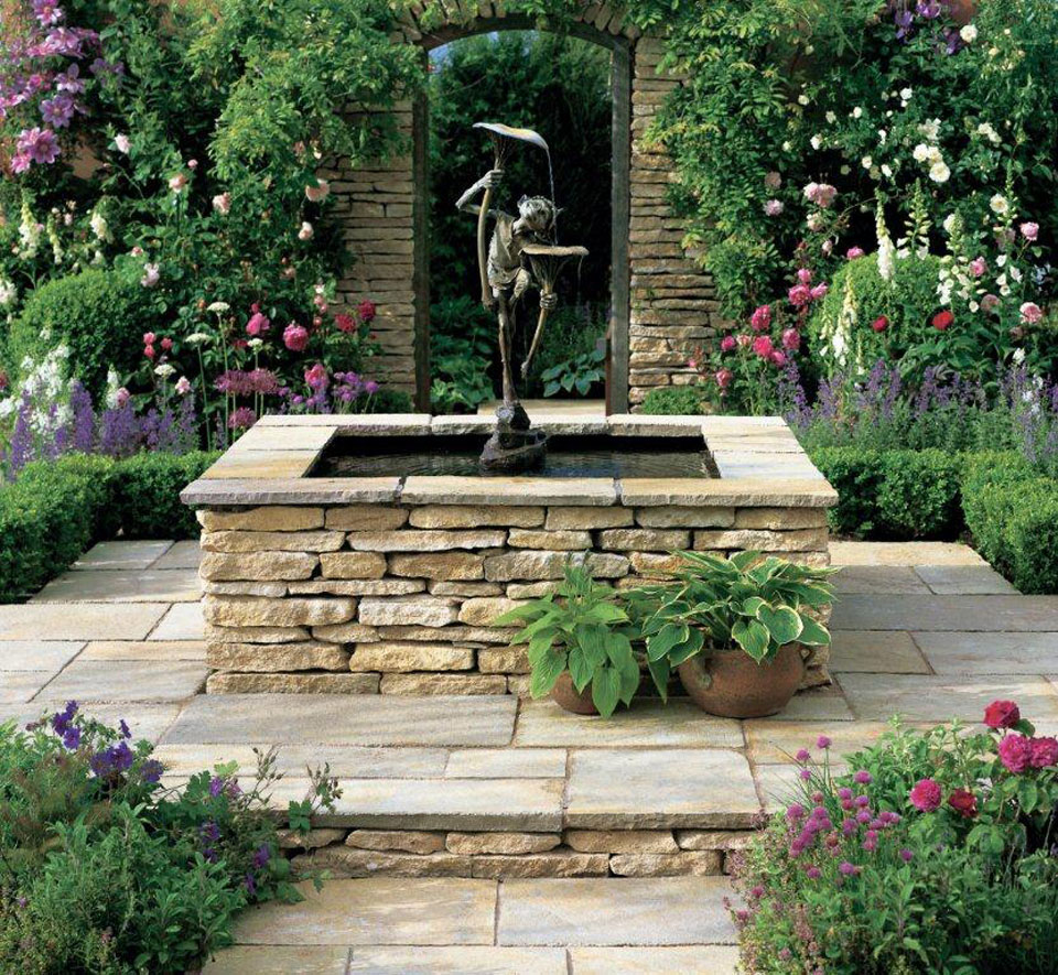Cu l es la mejor piedra natural para el jard n todo for Banco de piedra para jardin