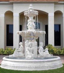 fuente marmol jardin